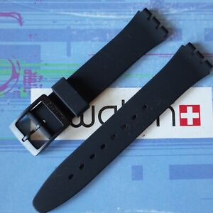 Swatch 17 mm Silicone Replacement Strap Band Black