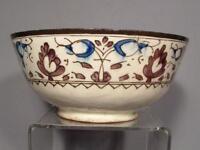 Large Antique Indo Persian Islamic Central Asia Ceramic Bowl 18th Century