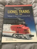 Greenberg's Guide To Lionel Trains 1945-1969 Volume One Centennial Edition