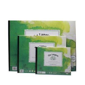 paint pad watercolor paper Langton cold press watercolour paper texture 300gsm