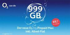 O2 My Prepaid MAX 999GB Data + Allnet Flat + SMS Flat ohne Vertrag