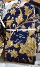"Pottery Barn Set 4 Hanukkah Napkins Blue Gold 20"" sq Fabric Metallic Hanukah New"