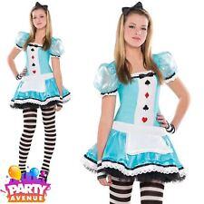 Clever Alice Girls Teen Alice In Wonderland Costume 14-16yrs