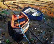 Dipinto ORIGINALE impressionista: Melanie REYNOSO PARKER: REMI Bassa Marea