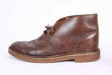 CLARKS Dark Oiled Brown Leather Chukka Lace Up Ankle Boots Mens Shoes Size 8 M