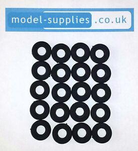 Corgi 16mm O/D Black Reproduction Treaded Rubber Tyres for 267 Batmobile