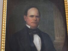 ANTIQUE MASTER PORTRAIT PAINTING OF NATHANIEL PARSHALL 19TH CENTURY REPUBLICAN