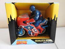 Buddy L MARVEL SUPER HEROS SECRET WARS Captian America sur sa moto Diecast