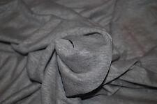 "100% Linen Jersey Knit Fabric By Yard  Semi Sheer highend fabric 60"" Wide Mink"