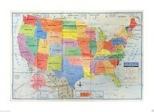 Large Usa Map Ebay