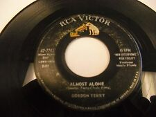 Gordon Terry Almost Alone / Trouble On the Turnpike 45 rpm RCA Victor VG