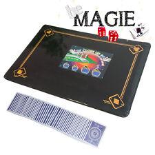 Tapis de magie NOIR - 58 x 40 cm - Motif 4 As - Qualité VDF