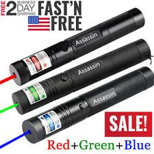 3 Packs 900miles Laser Pointer Pen Green Blue Purple Red Light Zoom 1mw Lazer