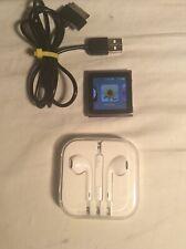 Apple iPod nano 6th Generation Graphite 16 GB Works Great New EarPods Good Batt.