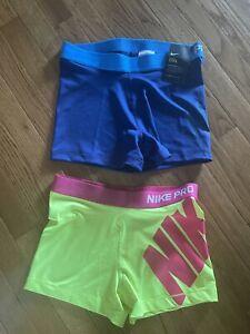 Lot Of 2 Nike Pro Dri-FIT Women's Compression Running Shorts Sz Large