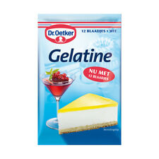 Dr.Oetker Gelatine - Gelatin Leaves - 12 sheets white. Made in Germany