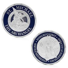 Saint Michael The Archangel Silvery Commemorative Challenge Coin Collection