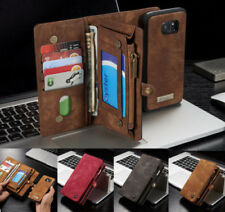 Fr Samsung Note 8 S9 Plus Leather Removable Wallet Magnetic Flip Card Case Cover
