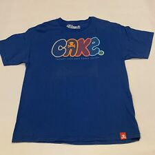 Johnny Cupcakes Baked Goods CAKE 100% Cotton Basic T-Shirt Blue Men's Sz Large
