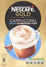 NESCAF Gold Cappuccino Decaff Unsweetened Taste, 8 Sachets Pack of 6