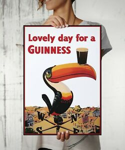 Lovely Day Guiness Beer Vintage Wall Art Print. Great Home/Shop Art Decor