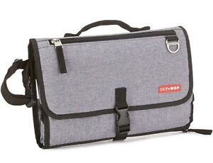 Skip Hop Gray Pronto Baby Changing Station & Diaper Clutch with Wipes Case