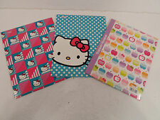 Set Of 3 Hello Kitty 2-Pocket Folders School Supplies New Sanria Apple cat logo