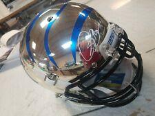 Isaac Bruce Signed Memphis Tigers Schutt Authentic Chrome NCAA Helmet