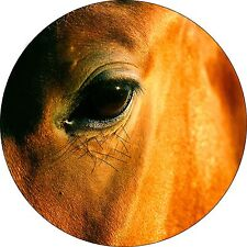 Horse Eye Spare Tire Cover Fits rv, camper, trailer, centered backup camera