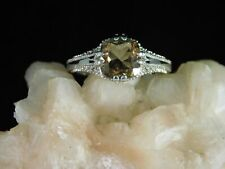 2.27 ct. Cushion Cut Champage Topaz Art Deco Style Sterling Silver