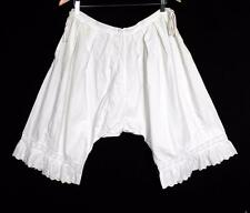 "Rare French Antique Victorian-Edwardian White Cotton Bloomers 32""W X 25""L"