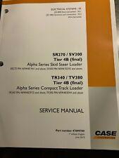 Case Alpha Series Compact Track Loader Skid Steer Loader Service Manual