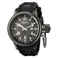 Invicta Men's Russian Diver 100m Black Stainless Steel Polyurethane Watch 0555