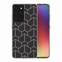 For Samsung Galaxy S21 Ultra Silicone Case Geometric Abstract - S6130