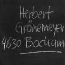 HERBERT GRÖNEMEYER 'BOCHUM' CD NEW+