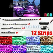 12pc Car Motorcycle RGB Million Color SMD LEDs Flexible Strip Kit