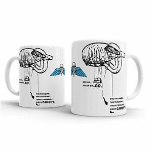 HM Armed British Airborne Forces PARAS Paratrooper - The Balloon jump - mug
