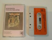 AEROSMITH TOYS IN THE ATTIC CASSETTE TAPE 1975 ORANGE PAPER LABEL CBS UK