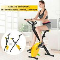 Folding Exercise Bike Home Cycling Magnetic Trainer Fitness Stationary Machine H