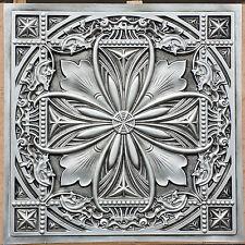 PL10 Faux tin antique silver ceiling tiles cafe store decor wall panel10tile/lot