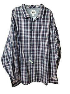 NWT Joseph Abboud 5X Dress Shirt Purple Plaid Long Sleeved MSRP $85 Button Up