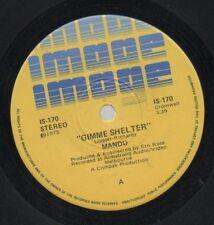 """MANDU    Rare 1975 Aust Only 7"""" OOP Image Label Prog Rock Single """"Gimme Shelter"""""""