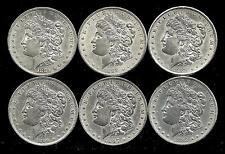 6 Coin Lot___Morgan Silver Dollars__BU/UNC___#2258LC07