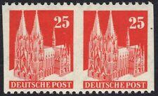 Germany 1948 25 pf Buildings Imperf Between Pair Sc Unlisted Light Hinged