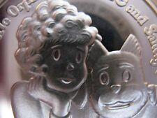 1-OZ 999 PURESILVER 1987 AMC CARTOON CELEBRITIES ORPHAN ANNIE & SANDY COIN+GOLD