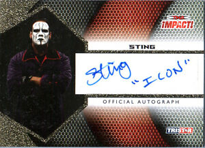 """TNA Sting """"Icon"""" 2009 Tristar Impact GOLD Authentic Autograph Card SN 58 of 60"""