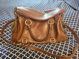 Dooney & Bourke Florentine Satchel Medium Natural purse handbag Crossbody