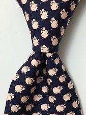Beauport Tie Rack PIGS Graphic Necktie All Silk Tie Made in Italy