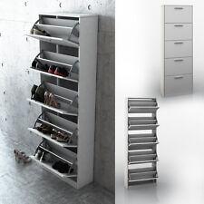 Armario de zapatos volquete con 5 estantes aparador con iluminación cómoda