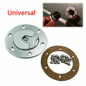 Billet Aluminum Aircraft Style Fuel Cell Gas Cap Flush Mount With 6Hole Stable